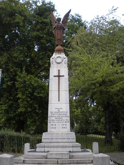 Tottenham War Memorial, Town Hall Approach N15