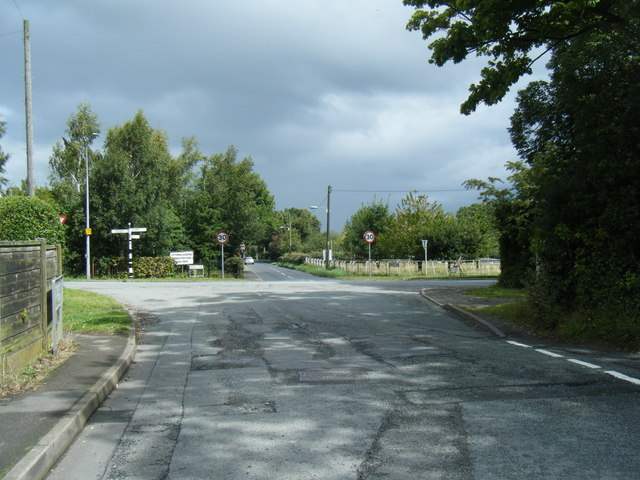 Meeting House Lane/Norley Road junction