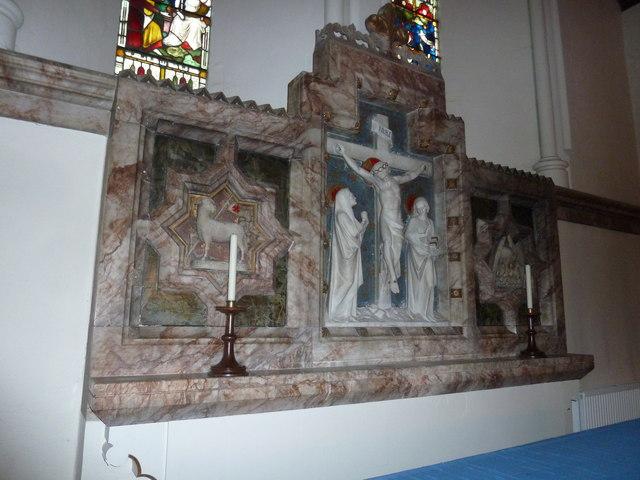 Behind the altar at St Mary Ewshot