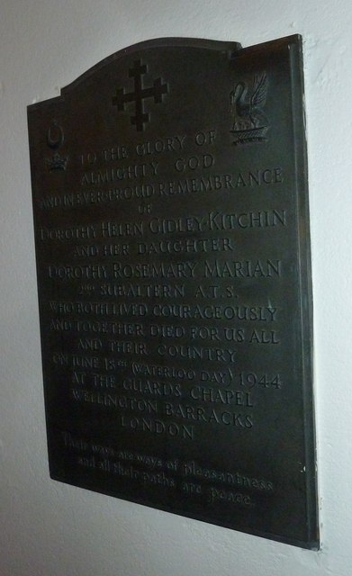 Memorial on the north wall at St Mary Ewshot