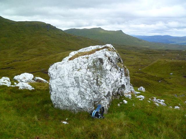 Quartz Boulders on Beinn Nan Imirean