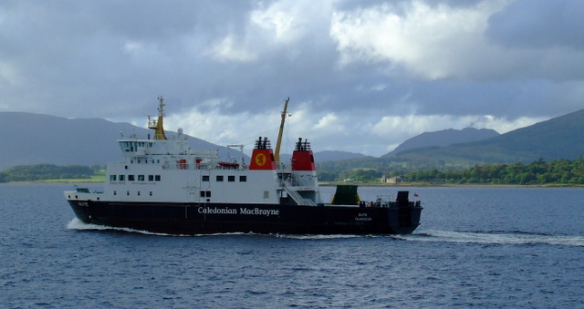 MV Bute passing Ardyne Point