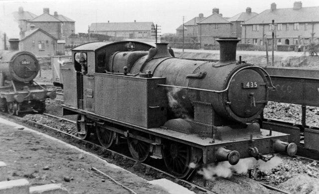 GW former Brecon & Merthyr 0-6-2T at Newport Ebbw Junction Locomotive Depot