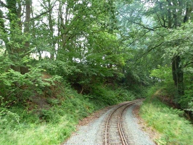 Check rail on the sharp curve