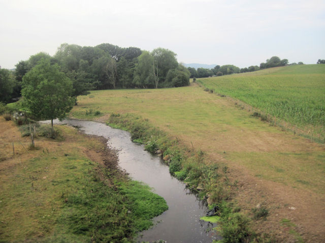 Rea brook from the railway