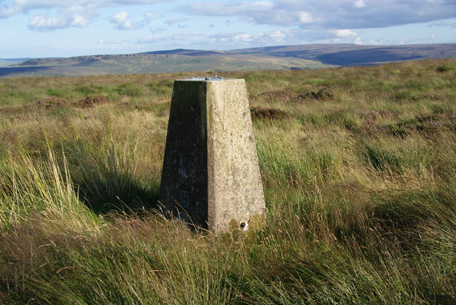Trig point on Cupwith Hill