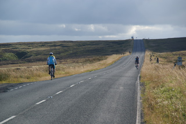 Cyclists on New Hey Road