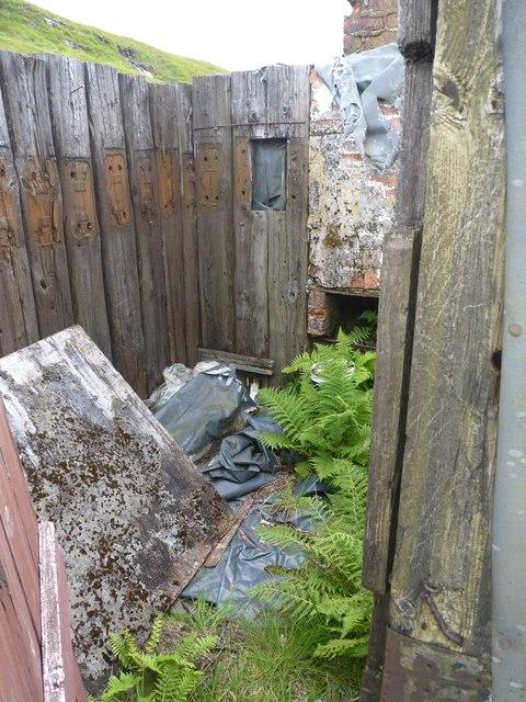 Disused, semi-ruined, track-workers hut interior