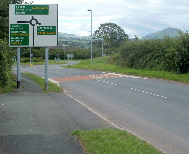 SE end of Church Street, Bronllys