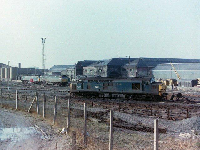 Class 37 at Gateshead, 1981