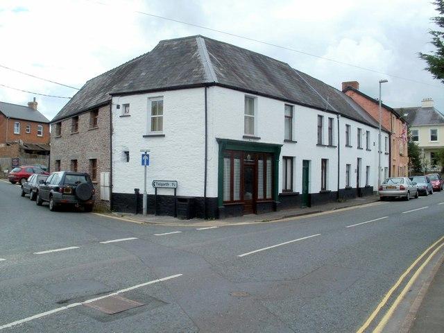 NE corner of the Church Street triangle, Bronllys