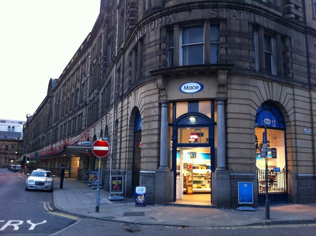 Mace convenience store, Manchester Victoria station