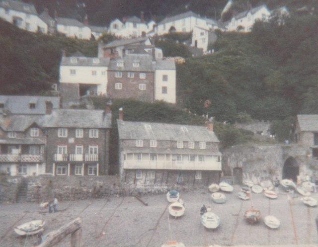 Harbourside in Clovelley in 1986