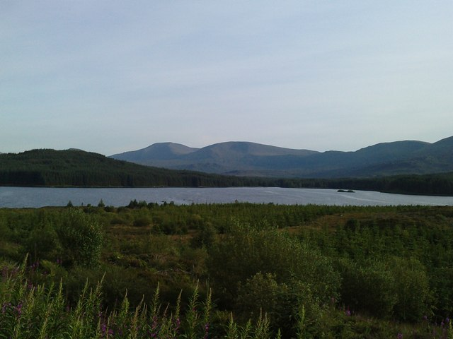 View of Loch Riecawr and part of the Awful Hand Range