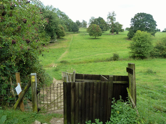 View east from Sundridge churchyard