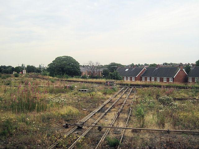 Abbey south curve on railway