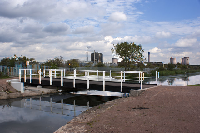 A generously proportioned  bridge over the St Helens Canal