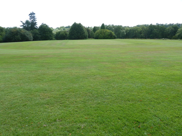 Superb cricket pitch behind Brook house