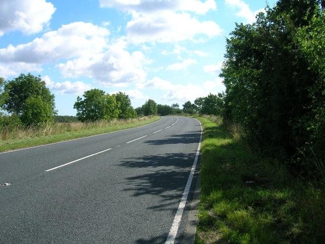 Minor road towards the A19