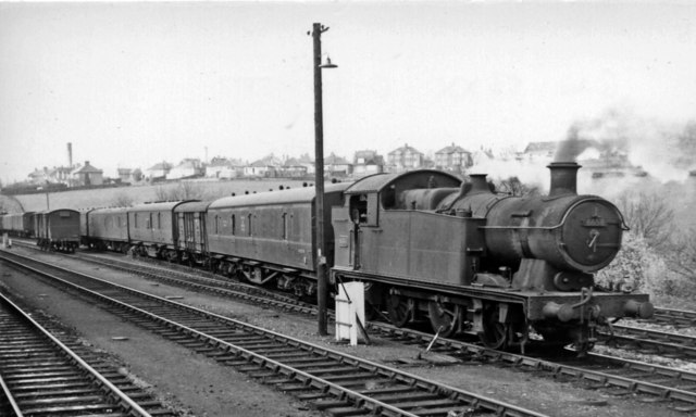 GW 0-6-2T in sidings at Pontypool Road