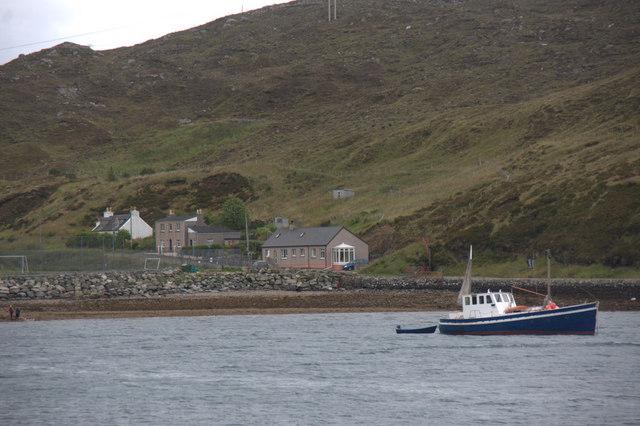 Boat in Loch a' Siar, Tarbert