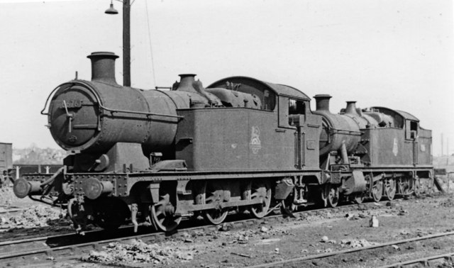 GW 0-6-2T and 2-8-2T resting at Severn Tunnel Junction Locomotive Depot