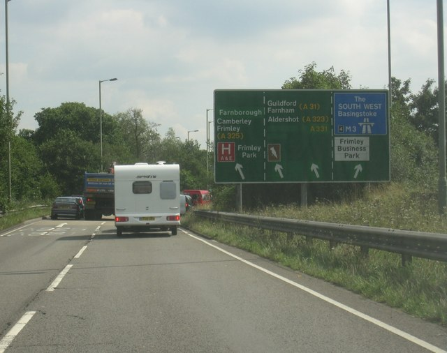 Slow going - A331/M3 junction