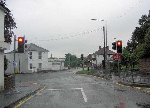 Alma Road joins Upper Hale Road