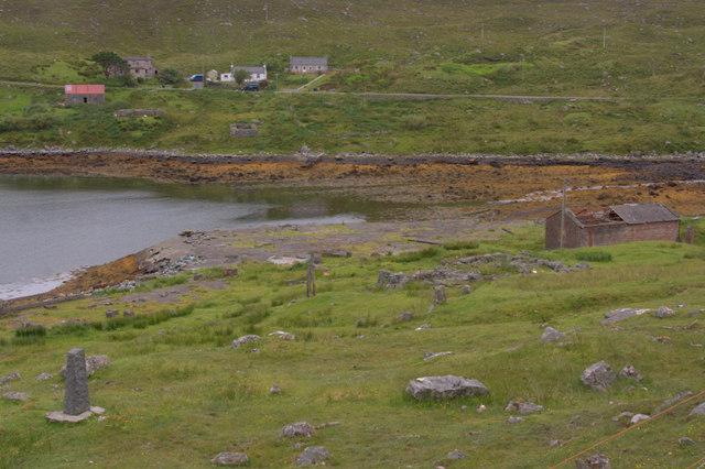 Old whaling station at Bun Abhainn Eadarra