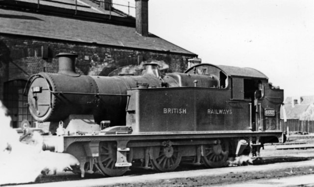 GW 0-6-2T at Cardiff Cathays Locomotive Depot