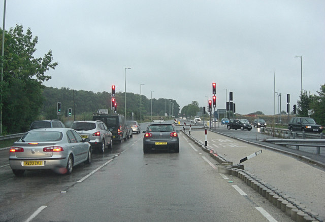 A340 junction with Priestley Road