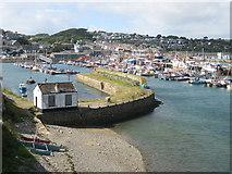 SW4628 : Newlyn Old Harbour by Bob Jones