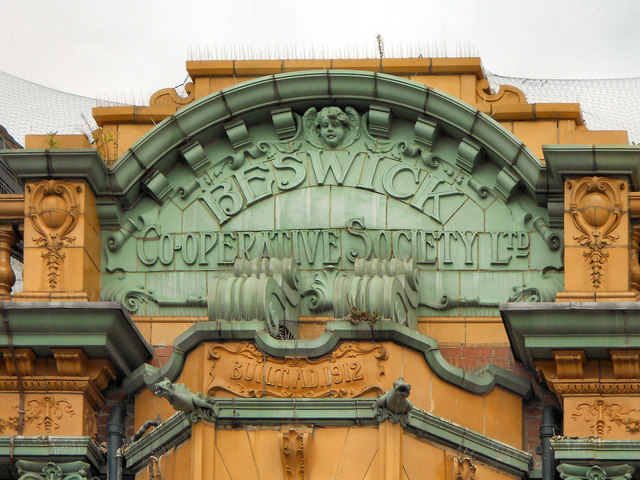 Beswick Co-operative Society Building (detail)