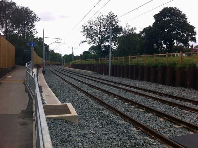 South Manchester Line between St Werburgh's Road and Chorlton Metrolink stops