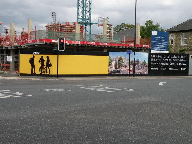 CB1 Hoardings on Hills Road