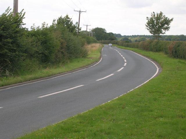 Minor road towards Crockey Hill