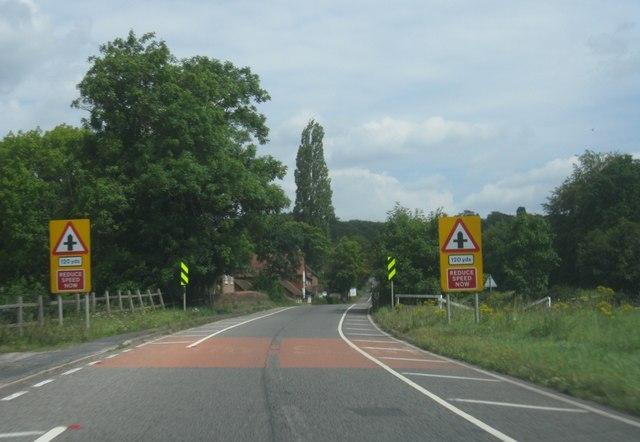 Crossing Hartford Bridge (A30)
