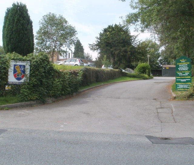 Entrance to Caerphilly Golf Club