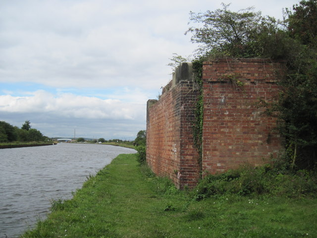 Dismantled  Railway  Bridge  at  canal  side.