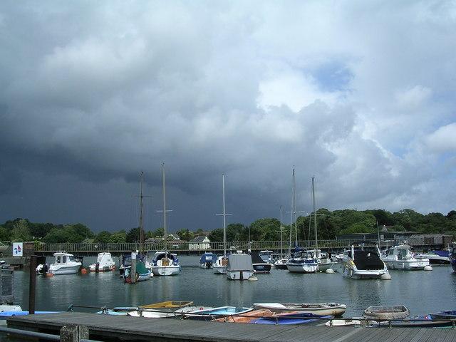Storm clouds over Lymington Harbour