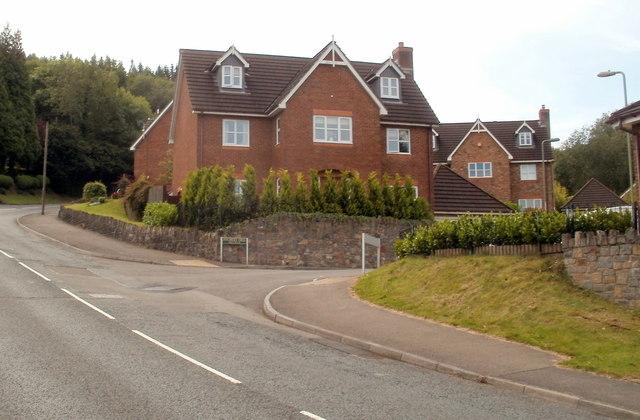 Corner of Mountain Road and Ffordd Deg, Caerphilly