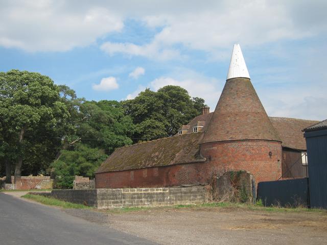 Oast House at New Shelve Farm, Lenham Forstal, Kent