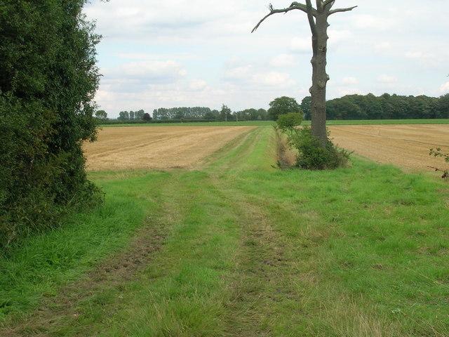 Farm track off the B1222