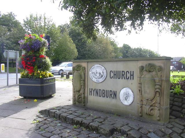 Church-Hyndburn Boundary Sign 1913