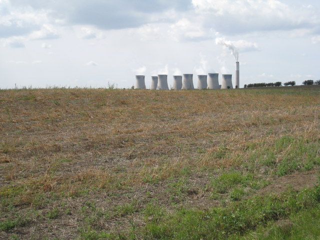 View towards Cottam Power Station
