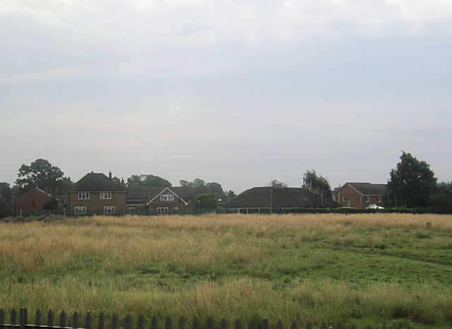 Houses on Aston Road from railway