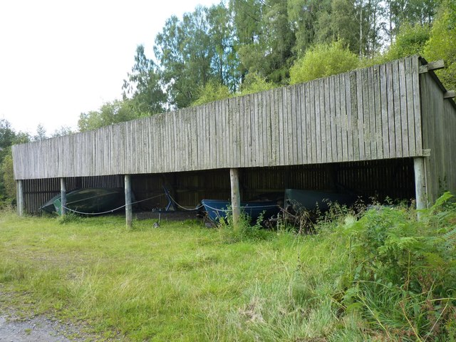 Wooden boat shed