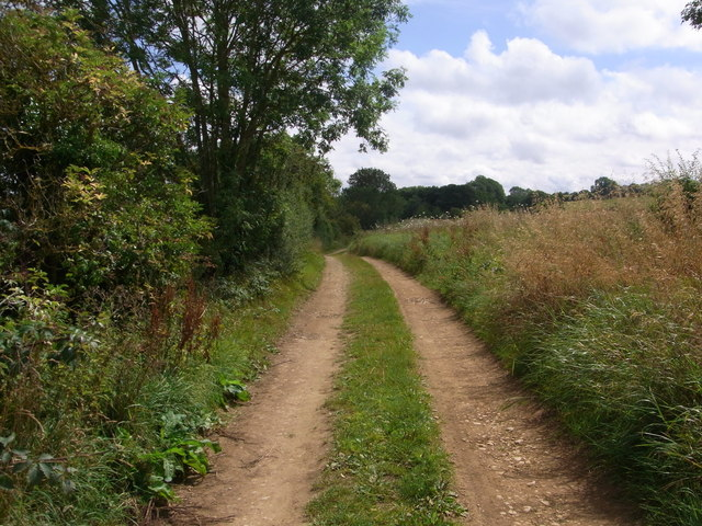 Track between Elwell and Upcote Farm