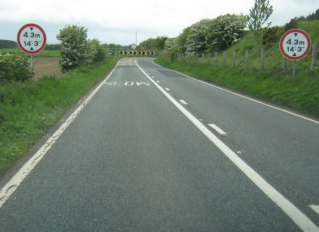 Approaching Challoch Bridge on the A75