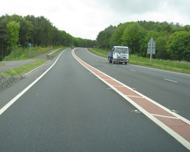 Recent road improvements on the A75